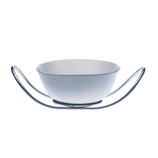 Mepra Fine China salad Bowl with multifunction stand Due,Due Ice