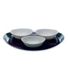 Mepra Serving Tray with Board and 3 Porcelain Bowls Due, Due Ice ,Mepra | Zangheim Ltd.
