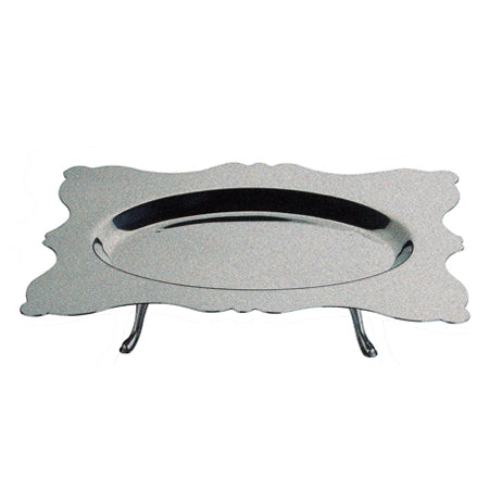 Mepra Dolce Vita Rectangular Tray with oval internal part & feet ,Mepra | Zangheim Ltd.