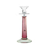 Theresienthal Louisa double sleeve curly olive cut ruby Candlestick