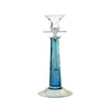 Theresienthal Louisa double sleeve floral engraving aquamarine Candlestick