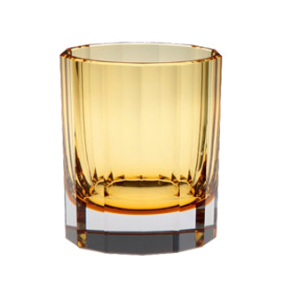 Artel Faceted Amber Double Old Fashioned