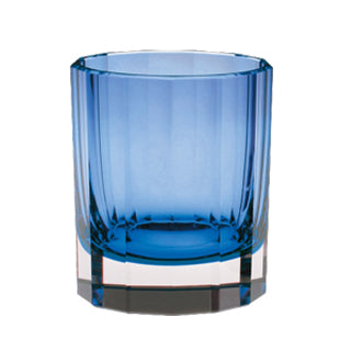 Artel Faceted Blue Double Old Fashioned