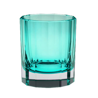 Artel Faceted Teal Double Old Fashioned