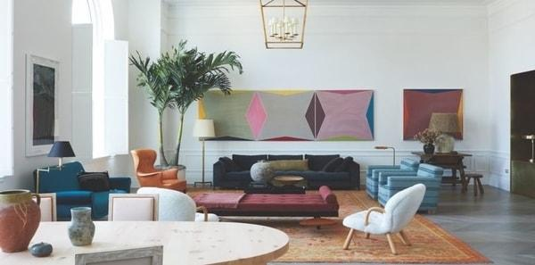 Contemporary living room from Elle Decor
