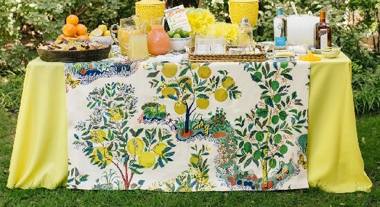 Schumacher Citrus Garden Primary fabric Kimberly Schlegel Whitman