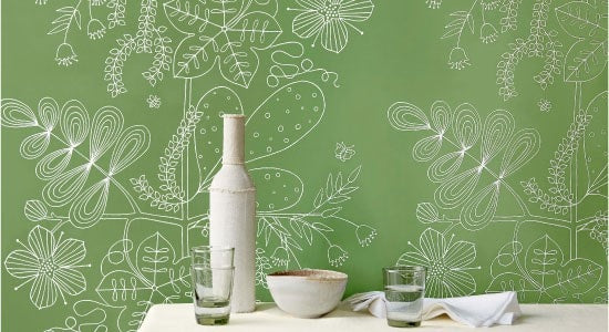 Schumacher 5007492 Blommen Leaf Wallpaper 287887
