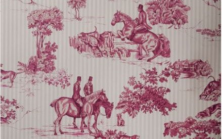 vervain wallpaper red toile