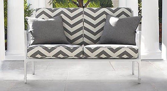chevron fabrics gray white zigzag pattern sofa couch cushions