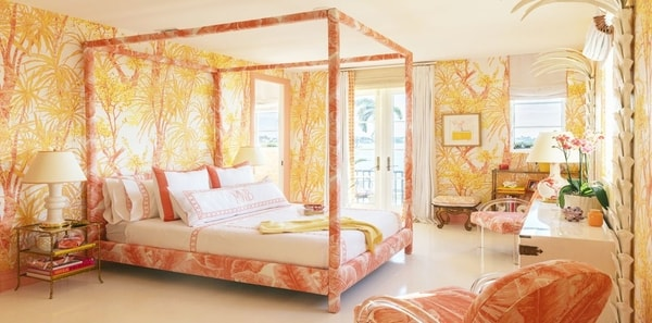 Yellow floral bedroom by Meg Braff for Kips Bay SHowhouse Palm Beach 2019