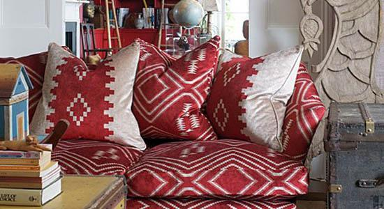 Andrew Martin Fabric, red fabric couch