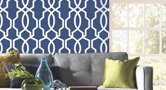 Ashford House wallpaper hourglass Trellis