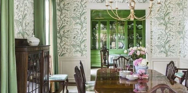 A Gorgeous Green Dining Room