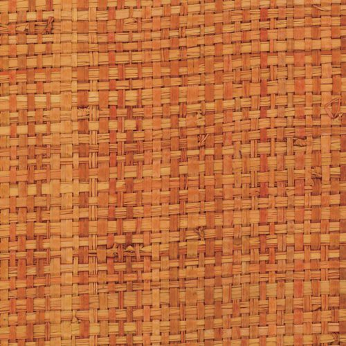 Phillip Jeffries African Raffia Turks And Caicos Orange Wallpaper - Wallpaper