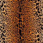 Old World Weavers Leopard Black On Gold Fabric