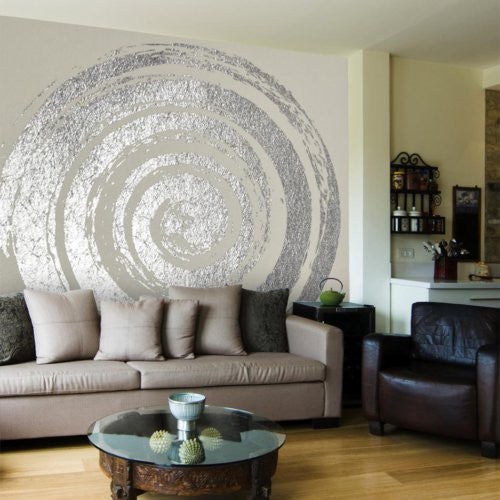 Decoratorsbest Silver Vertigo Hypnotic Wallpaper - Wallpaper