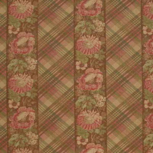 Mulberry Ancient Floral Pink/Green Fabric - Fabric