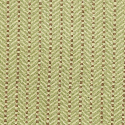 Grey Watkins Cadogan Stripe Pistachio/Tan Fabric - Fabric