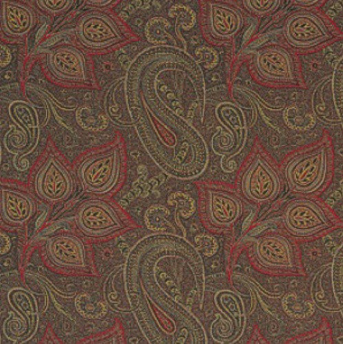 Clarence House Astelia Rosso Fabric - Fabric