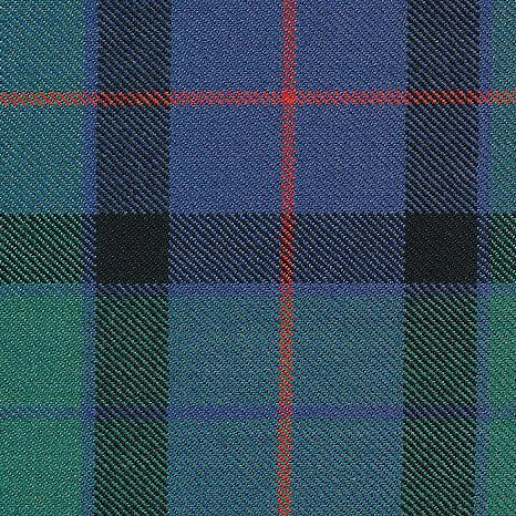 Old World Weavers Flower Of Scotland Blue & Green Fabric - Fabric