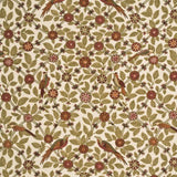 G P & J Baker Bamboo Bird Coral/Biscuit Fabric