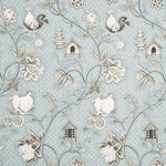 Baker Lifestyle Bantam Toile Duck Egg/Taupe Fabric