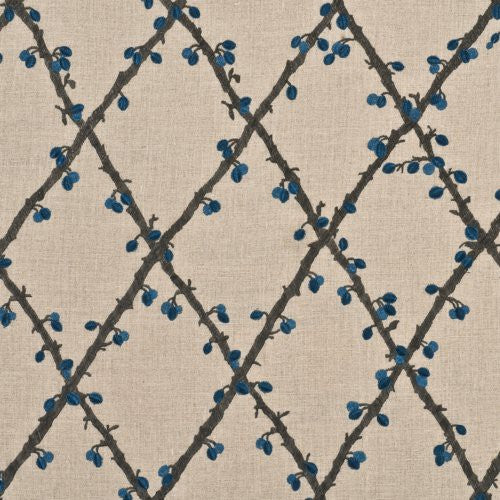 Mulberry Berry Linen Teal Fabric - Fabric