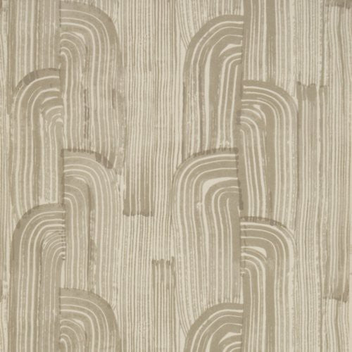 Groundworks Crescent Paper Taupe/Putty Wallpaper - Wallpaper