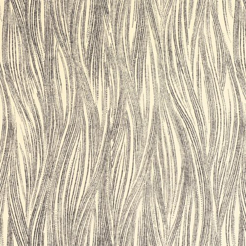 Groundworks Currents Paper Ebony/Oatmeal Wallpaper - Wallpaper