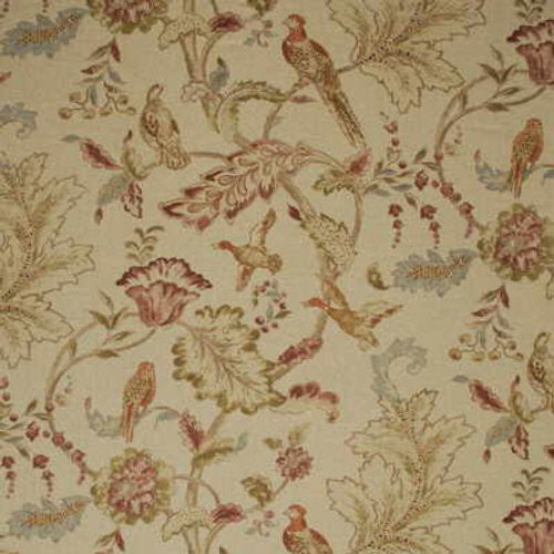Mulberry Early Birds Natural Fabric - Fabric