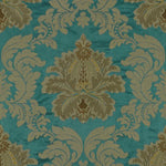 Lee Jofa Emilia Damask Teal Fabric