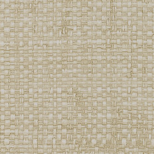Phillip Jeffries Vinyl Madagascar Raffia Island Malta White Wallpaper - Wallpaper