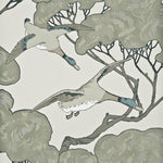 Mulberry Flying Ducks Silver/Taupe Wallpaper