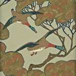 Mulberry Flying Ducks Sky/Moss Wallpaper