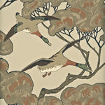 Mulberry Flying Ducks Stone Wallpaper