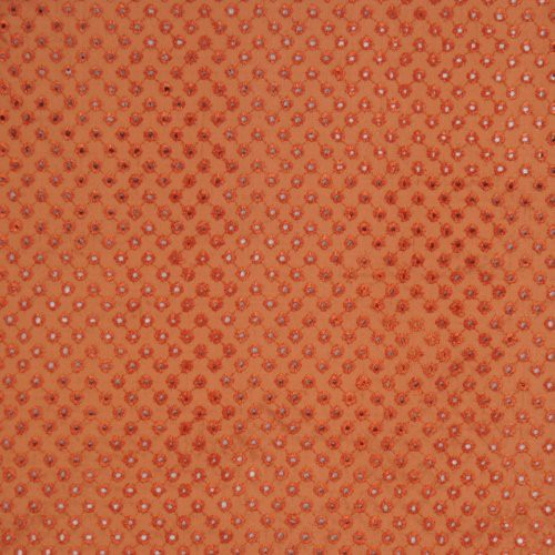 Vervain Eyelet Terra Cotta Fabric - Fabric