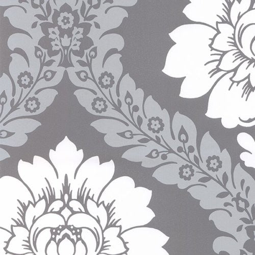 Norwall Daisy Damask Tu27124 Wallpaper - Wallpaper