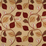 Mulberry Garrick Leaf Red/Green/Gold Fabric