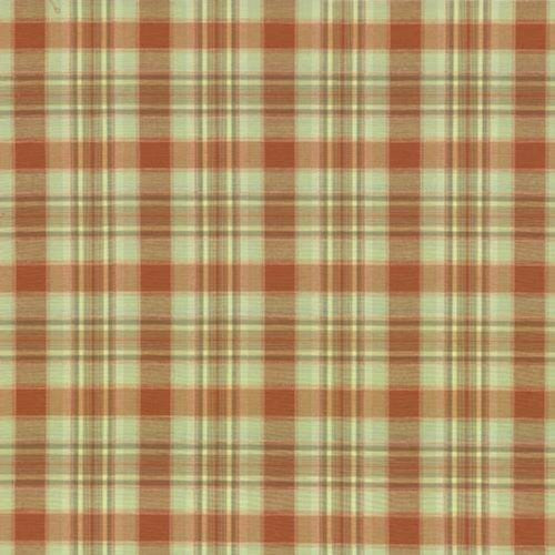 Kasmir Mocambo Plaid Blazing Sunset Fabric - Fabric