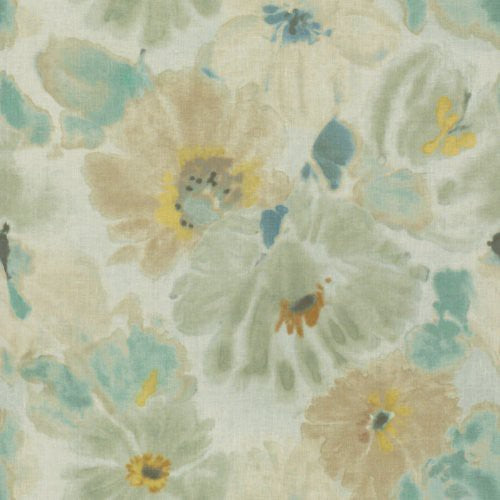 Groundworks Giverny Mist Fabric - Fabric