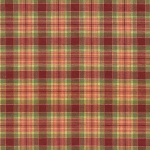 Kasmir Mocambo Plaid Spice Red Fabric - Fabric