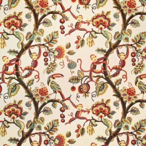 Kasmir Monkey Business Teak Fabric - Fabric