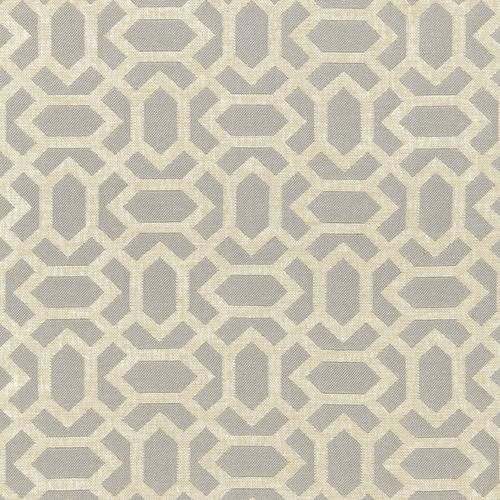 Schumacher San Remo Fret Dove Grey Fabric - Fabric