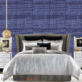Phillip Jeffries Island Raffia Key Largo Blue Wallpaper