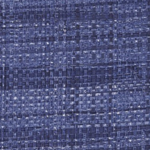 Phillip Jeffries Island Raffia Key Largo Blue Wallpaper - Wallpaper