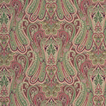 Mulberry Heirloom Paisley Damson Fabric