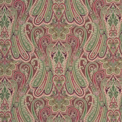 Mulberry Heirloom Paisley Damson Fabric - Fabric