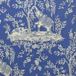 Clarence House Ile Des Elephants Cobalt Fabric