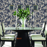 Ralph Lauren Marlowe Floral Prussian Blue Wallpaper