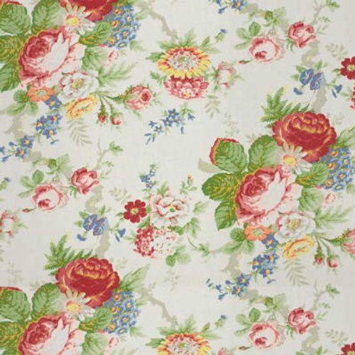 Ralph Lauren Garden Club White Fabric - Fabric